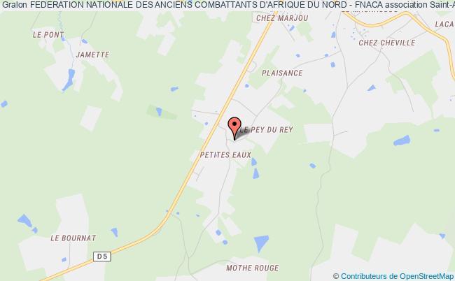 plan association Federation Nationale Des Anciens Combattants D'afrique Du Nord - Fnaca Saint-Aulaye
