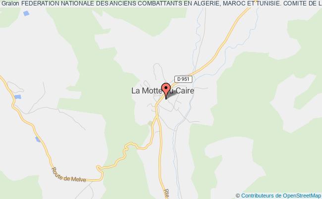 plan association Federation Nationale Des Anciens Combattants En Algerie, Maroc Et Tunisie. Comite De La Motte Du Caire
