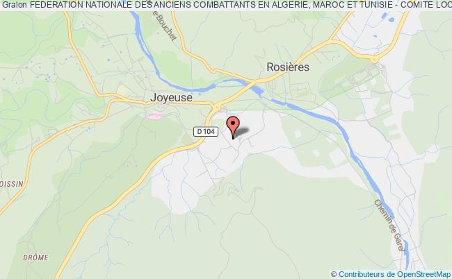plan association Federation Nationale Des Anciens Combattants En Algerie, Maroc Et Tunisie - Comite Local De Joyeuse - Fnaca Joyeuse