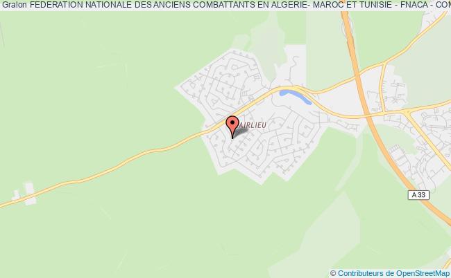 plan association Federation Nationale Des Anciens Combattants En Algerie- Maroc Et Tunisie - Fnaca - Comite De Villers Les Nancy