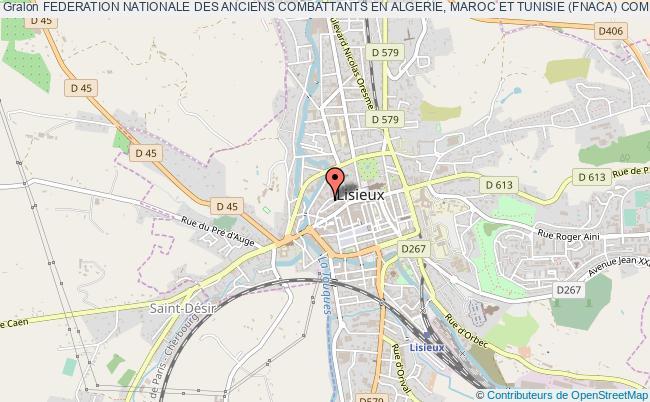 plan association Federation Nationale Des Anciens Combattants En Algerie, Maroc Et Tunisie (fnaca) Comite Local De Lisieux