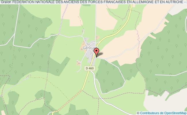 plan association Federation Nationale Des Anciens Des Forces Francaises En Allemagne Et En Autriche - 37eme Section Haute Marne 52