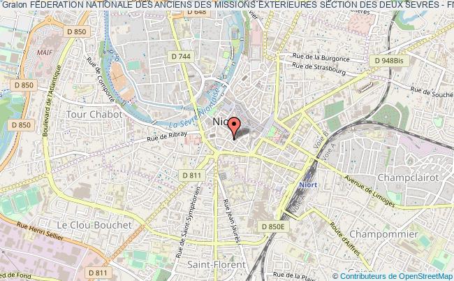 plan association Federation Nationale Des Anciens Des Missions Exterieures Section Des Deux Sevres - Fname Deux-sevres