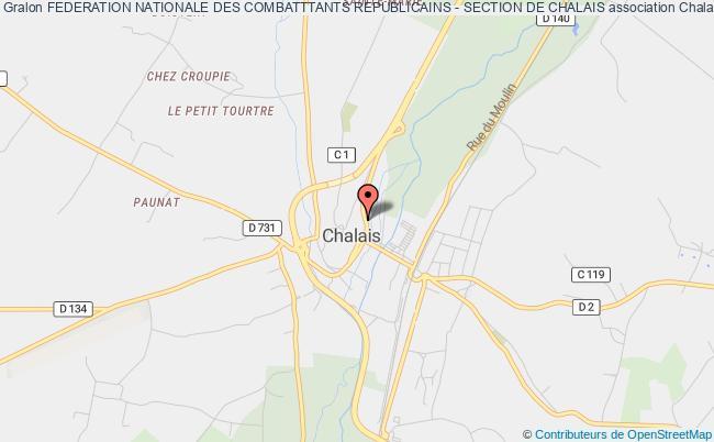 plan association Federation Nationale Des Combatttants Republicains - Section De Chalais Chalais