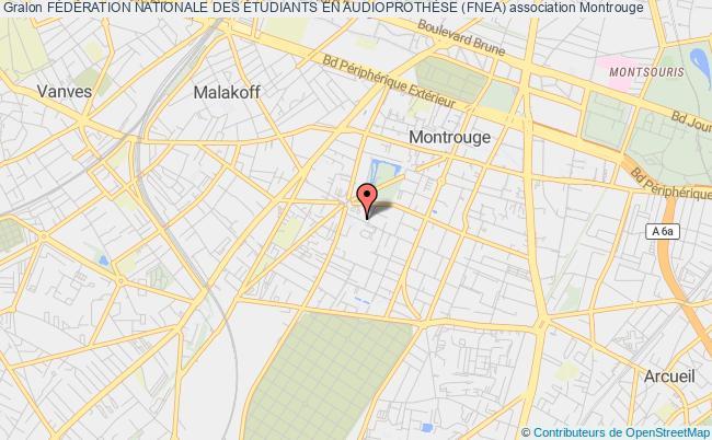 plan association FÉdÉration Nationale Des Étudiants En AudioprothÈse (fnea) Montrouge