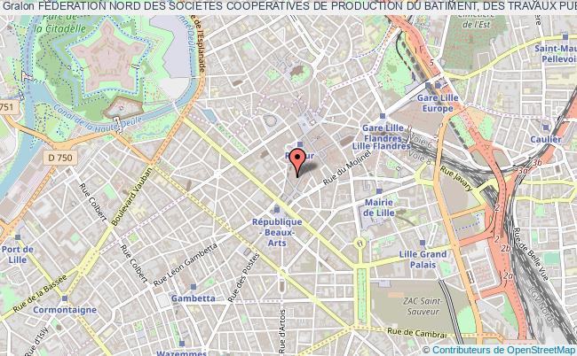plan association Federation Nord Des Societes Cooperatives De Production Du Batiment, Des Travaux Publics