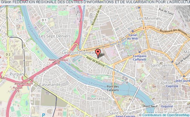 plan association Federation Regionale Des Centres D'informations Et De Vulgarisation Pour L'agriculture Et Le Milieu Rural (civam) De Midi-pyrenees