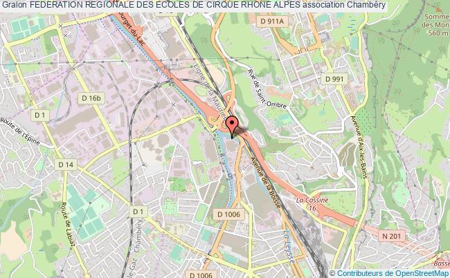 plan association Federation Regionale Des Ecoles De Cirque Rhone Alpes