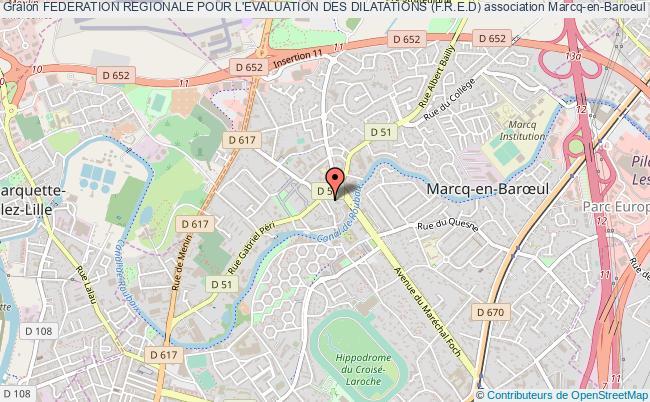 plan association Federation Regionale Pour L'evaluation Des Dilatations (f.r.e.d) Marcq-en-Baroeul