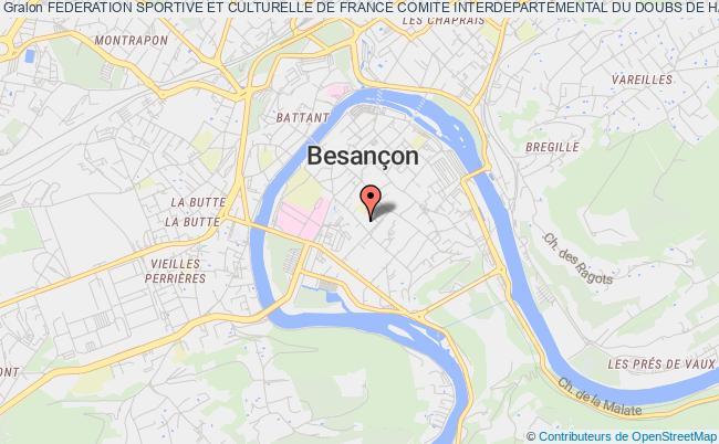 plan association Federation Sportive Et Culturelle De France - Comite Tri Departemental Du Doubs, De Haute-saone Et Du Territoire De Belfort