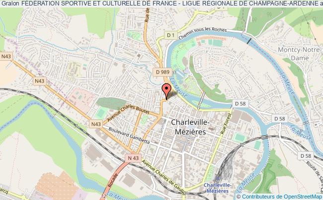 plan association FÉdÉration Sportive Et Culturelle De France - Ligue RÉgionale De Champagne-ardenne