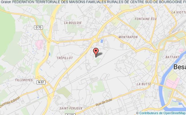 plan association Federation Territoriale Des Maisons Familiales Rurales De Centre Sud De Bourgogne Franche-comte Besançon