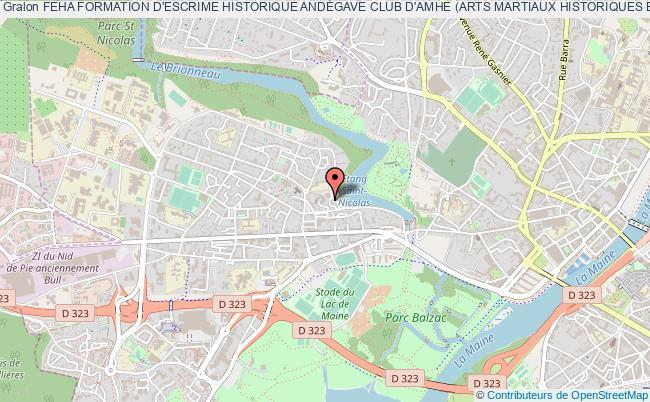 plan association Feha Formation D'escrime Historique AndÉgave Club D'amhe (arts Martiaux Historiques EuropÉens) Angers