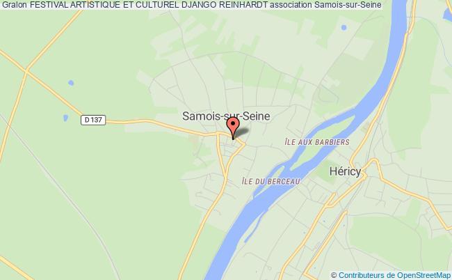 plan association Festival Artistique Et Culturel Django Reinhardt Samois-sur-Seine