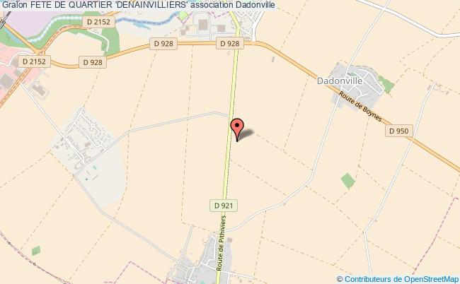 plan association Fete De Quartier 'denainvilliers'