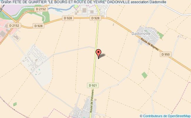 """plan association Fete De Quartier """"le Bourg Et Route De Yevre"""" Dadonville"""