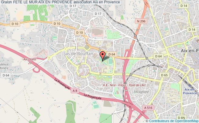 plan association Fete Le Mur Aix En Provence