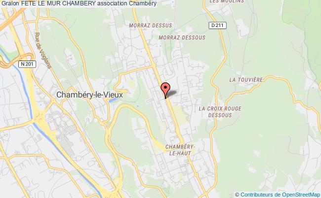 plan association Fete Le Mur Chambery