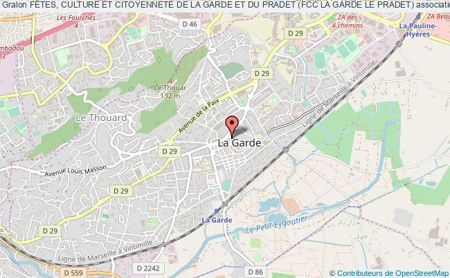 plan association FÊtes, Culture Et CitoyennetÉ De La Garde Et Du Pradet (fcc La Garde Le Pradet)