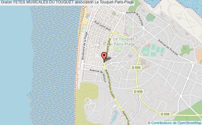 plan association Fetes Musicales Du Touquet Le    Touquet-Paris-Plage