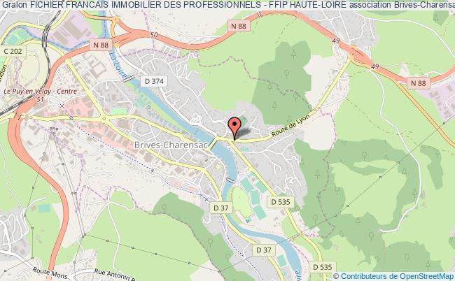plan association Fichier Francais Immobilier Des Professionnels - Ffip Haute-loire Brives-Charensac