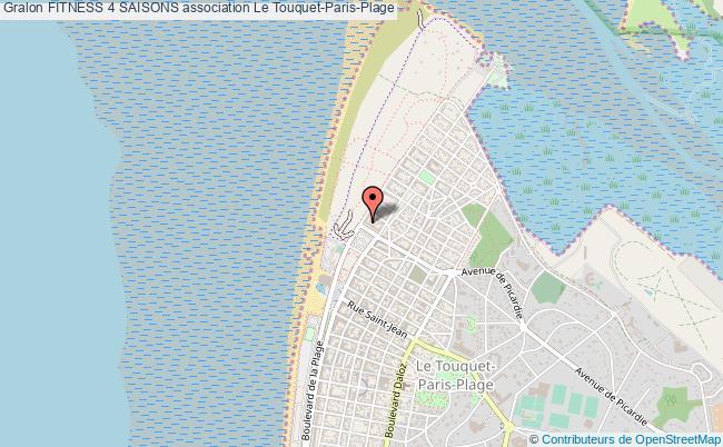 plan association Fitness 4 Saisons Le Touquet-Paris-Plage