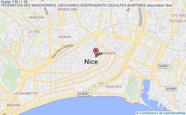 plan association F.m.i.i. 06 FÉdÉration Des Mandataires Judiciaires IndÉpendants Des Alpes-martimes