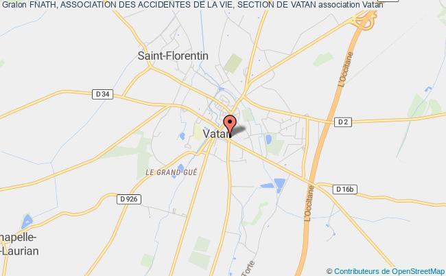 plan association Fnath, Association Des Accidentes De La Vie, Section De Vatan Vatan