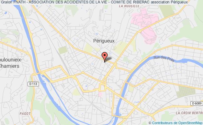 plan association Fnath - Association Des Accidentes De La Vie - Section Riberac Ribérac