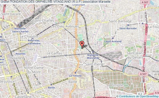 plan association Fondation Des Orphelins Vitagliano (r.u.p.) Marseille 4