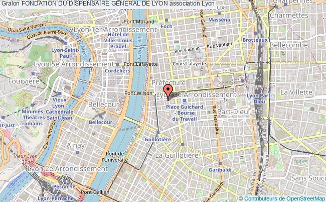 plan association Fondation Du Dispensaire General De Lyon