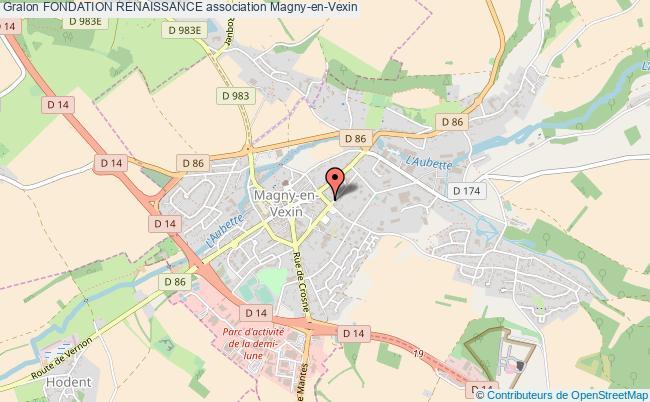 plan association Fondation Renaissance Magny-en-Vexin