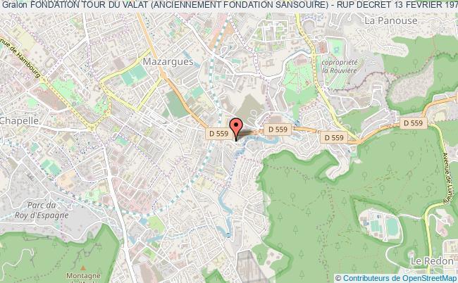 plan association Fondation Tour Du Valat (anciennement Fondation Sansouire) - Rup Decret 13 Fevrier 1978 Et Arrete Du 27 Octobre 2008 Marseille