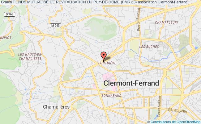 plan association Fonds Mutualise De Revitalisation Du Puy-de-dome (fmr 63)