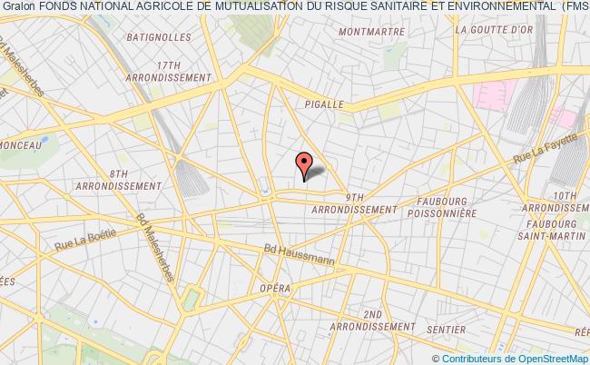 plan association Fonds National Agricole De Mutualisation Du Risque Sanitaire Et Environnemental  (fmse)