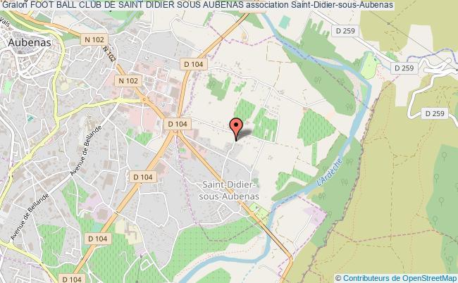plan association Foot Ball Club De Saint Didier Sous Aubenas
