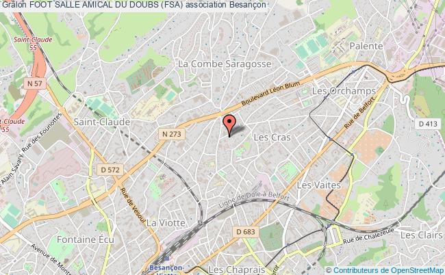 plan association Foot Salle Amical Du Doubs (fsa)