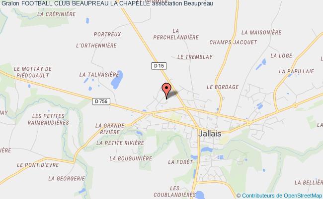 plan association Football Club Beaupreau La Chapelle