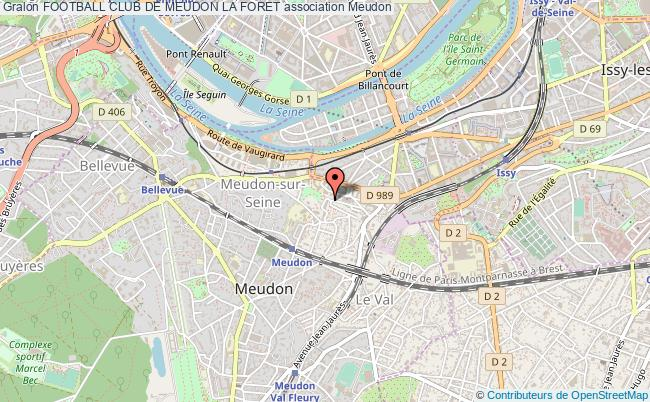 plan association Football Club De Meudon La Foret