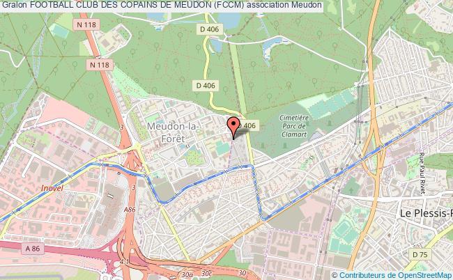 plan association Football Club Des Copains De Meudon (fccm)