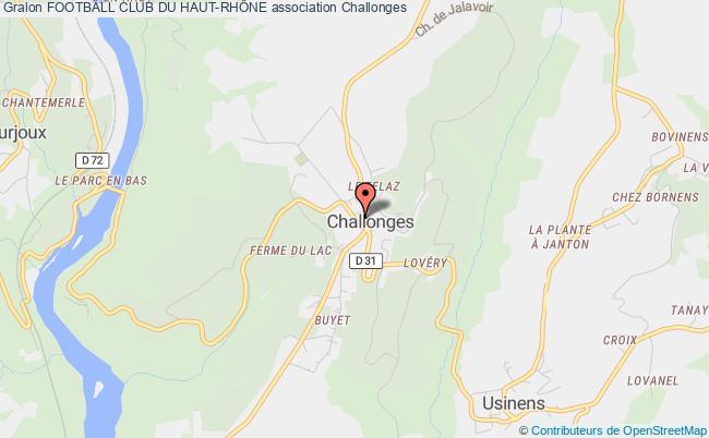 plan association Football Club Du Haut-rhÔne Challonges