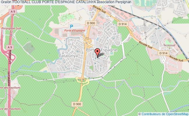 Club Foot Espagne Carte.Football Club Porte D Espagne Catalunya Association Football
