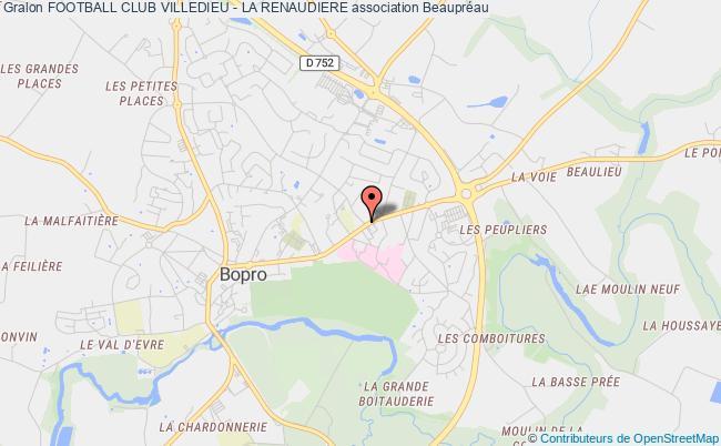 plan association Football Club Villedieu - La Renaudiere