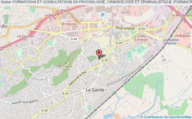 plan association Formations Et Consultations En Psychologie, Criminologie Et Criminalistique (formacrim'enquÊte)