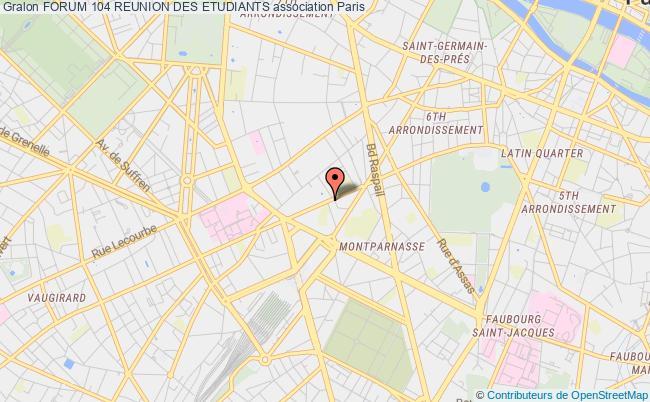 plan association Forum 104 Reunion Des Etudiants Paris