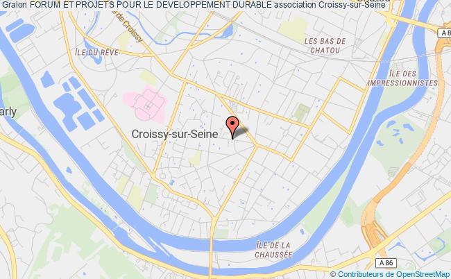 plan association Forum Et Projets Pour Le Developpement Durable Croissy-sur-Seine