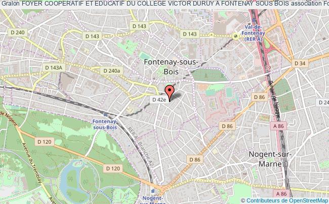 plan association Foyer Cooperatif Et Educatif Du College Victor Duruy A Fontenay Sous Bois
