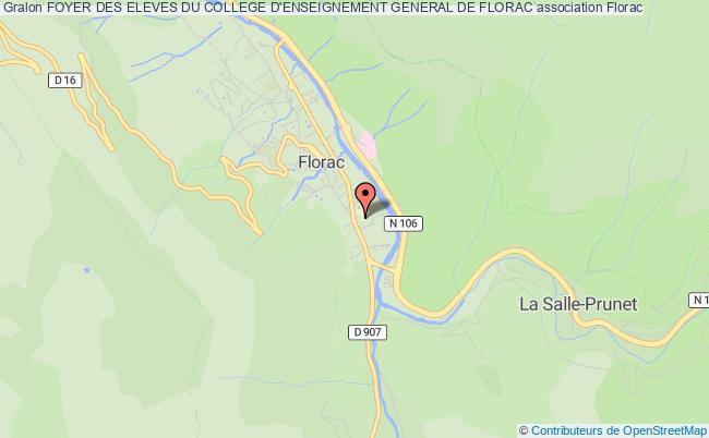 plan association Foyer Des Eleves Du College D'enseignement General De Florac
