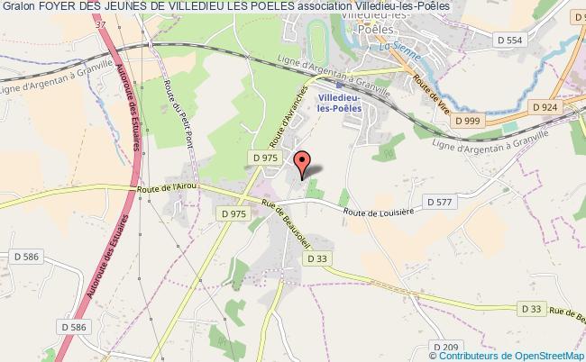 plan association Foyer Des Jeunes De Villedieu Les Poeles Villedieu-les-Poêles