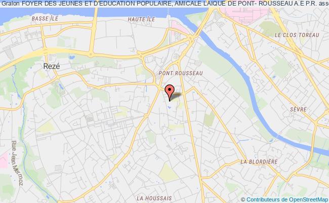 plan association Foyer Des Jeunes Et D'education Populaire, Amicale Laique De Pont- Rousseau A.e P.r.